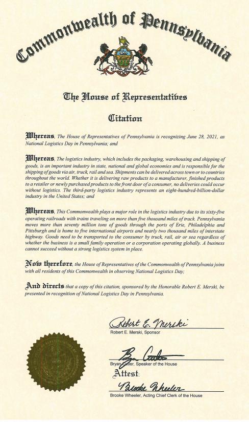 2021 PA House Proclamation